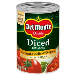 Del Monte No Salt Added Diced Tomatoes