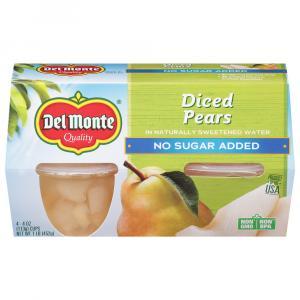 Del Monte Diced Pears No Sugar Added