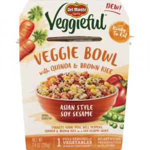 Del Monte Veggieful Bowls Asian Style Soy Sesame