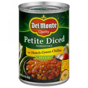 Del Monte Diced Tomatoes With Zesty Mild Green Chilies