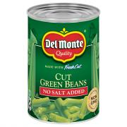 Del Monte No Salt Added Cut Green Beans