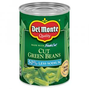 Del Monte Cut Green Beans 50% Less Salt