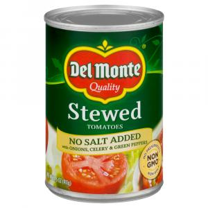 Del Monte No Salt Added Stewed Tomatoes