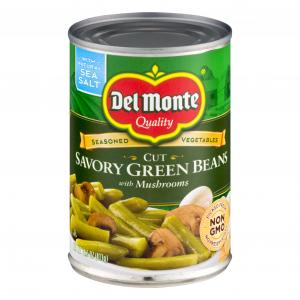 Del Monte Savory Green Beans With Mushrooms