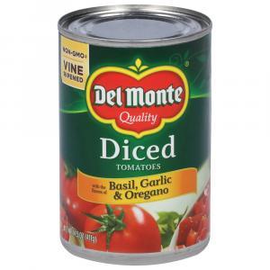 Del Monte Diced Tomatoes W/basil, Garlic, & Oregano