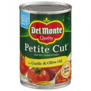 Del Monte Garlic & Olive Oil Petite Diced Tomatoes