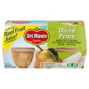 Del Monte Diced Pear in 100% Juice Fruit Cups