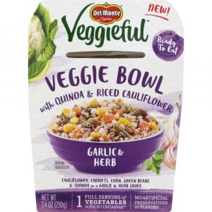 Del Monte Veggieful Bowls Garlic & Herb
