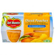 Del Monte No Sugar Added Diced Peaches