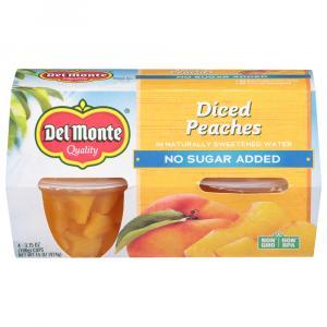 Del Monte No Sugar Added Diced Peaches