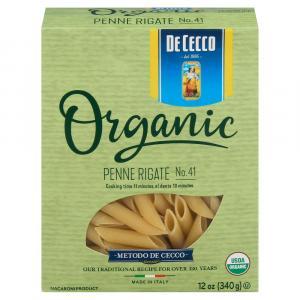 De Cecco 100% Organic Penne Rigate #41