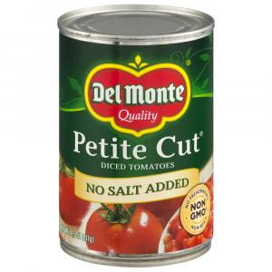 Del Monte No Salt Added Petite Diced Tomatoes