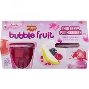 Del Monte Bubble Fruit Pear Berry Pomegranate