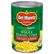 Del Monte No Salt Added Whole Kernel Corn