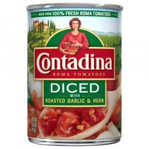 Contadina Diced Roma Tomatoes with Roasted Garlic & Herb