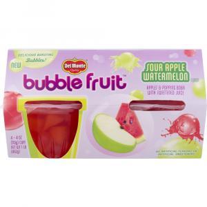 Del Monte Bubble Fruit Sour Apple Watermelon