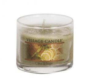 Village Candle Citrus & Sage Mini Glass Candle