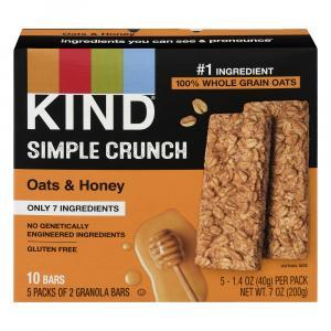 Kind Simple Crunch Oats & Honey Granola Bars