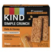 Kind Simple Crunch Oats & Honey Granola Bars