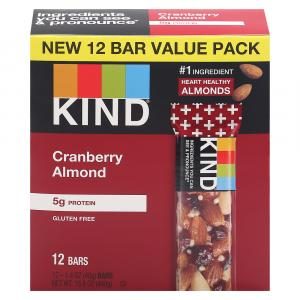 Kind Cranberry Almond Gluten Free Bars