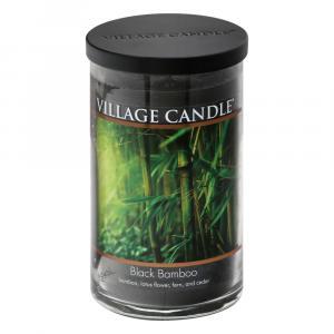 Village Candle Decor Black Bamboo