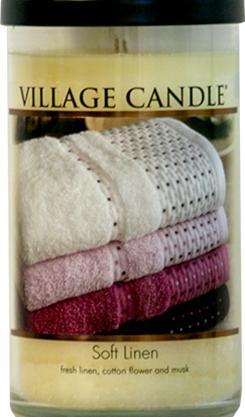 Large Village Candle Decor Soft Linen 19 Oz.