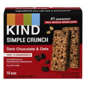 Kind Simple Crunch Dark Chocolate & Oats Granola Bars