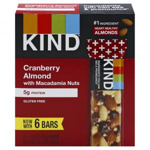 Kind Dark Chocolate Cranberry Almond Bars