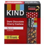 Kind Dark Chocolate Cherry & Cashew Bars