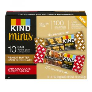 Kind Minis Peanut Butter Dark Chocolate & Dark Chocolate