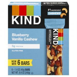 Kind Dark Chocolate Blueberry Vanilla Cashew Bars