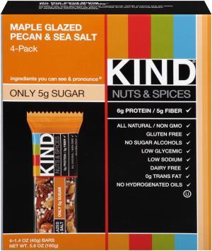 Kind Caramel Maple Glazed Pecan & Sea Salt Bar