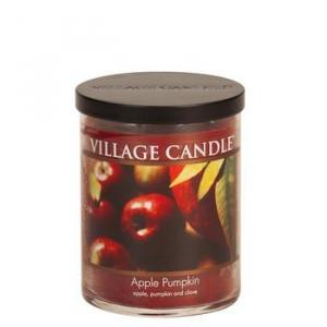 Village Candle Decor Apple Pumpkin Jar