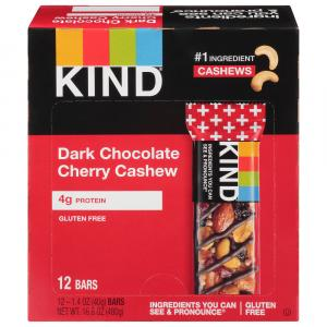 Kind Dark Chocolate Cherry & Cashew Bar 12 Pack