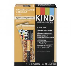 Kind Caramel Almond Sea Salt Bar 4 Pack