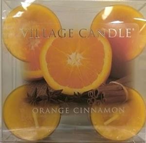 Village Candle Tea Light Orange Cinnamon