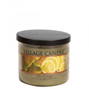 Village Candle Citrus & Sage 3 Wick Candle