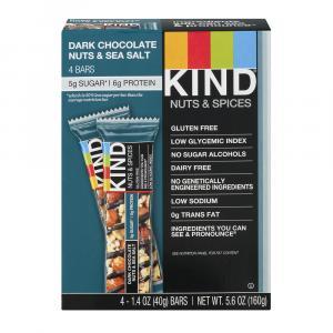 Kind Dark Chocolate Nuts & Sea Salt Bars 4 Pack
