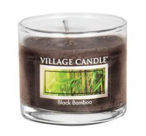 Village Candle Black Bamboo Mini Glass Candle
