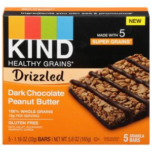 Kind Healthy Grains Drizzled Dark Chocolate Peanut Butter