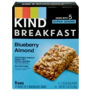 Kind Breakfast Bars Blueberry Almond