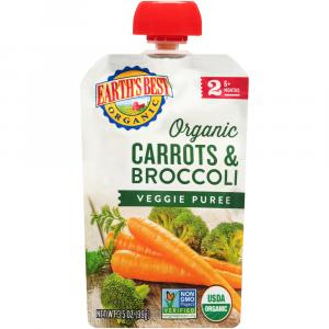 Earth's Best Organic Carrots & Broccoli Baby Food Puree