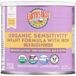 Earth's Best Organic Sensitivity Infant Formula