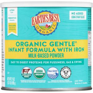 Earth's Best Organic Gentle Infant Formula With Iron