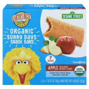 Earth's Best Sesame Street Apple Cereal Bars