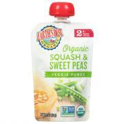 Earth's Best Organic Squash & Sweet Peas Baby Food Puree