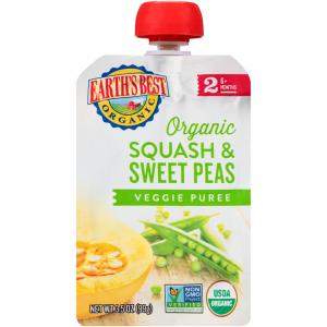 Earth's Best Organic Squash & Sweet Peas Baby Food Puree