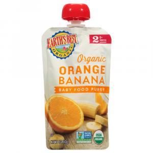 Earth's Best Organic 2 Orange Banana Baby Food Puree