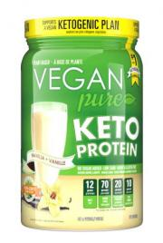 Vegan Pure Keto Protein Vanilla Dietary Supplement