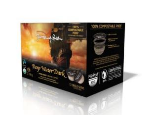 Jumping Bean Organic Deep Water Dark Roast Coffee Pods